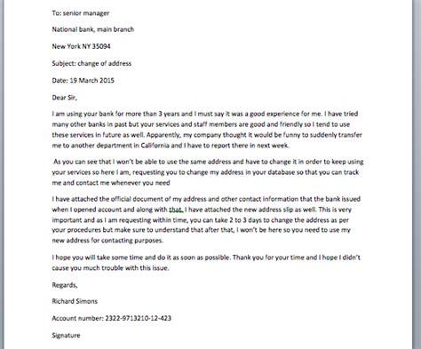 change  address bank letter smart letters