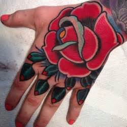 Old School Tattoo Roses Hands