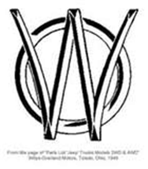 willys overland logo 1946 1962 jeep wagon pickup