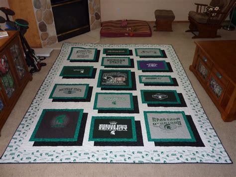 t shirt quilt pattern bell creek quilts michigan state t shirt quilt