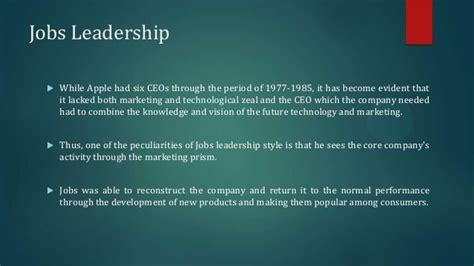 essay  steve jobs leadership style steve jobs