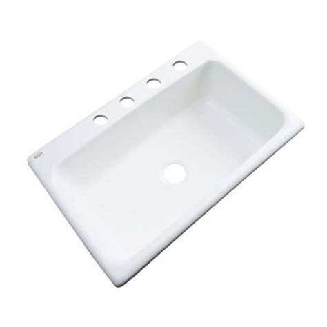 Home Depot Kitchen Sinks White by Thermocast Manhattan Drop In Acrylic 33 In 4 Single