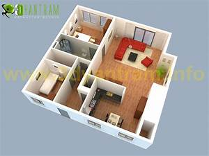Peque U00f1a Casa 3d Piso Plan Dise U00f1o Cgi