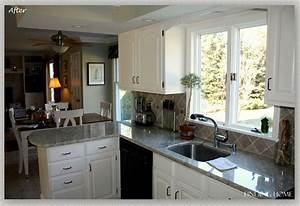 from oak to beautiful white kitchen cabinets 1033