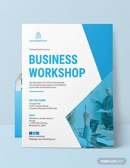 Great Invitation Card Format For Workshop 8+ Workshop