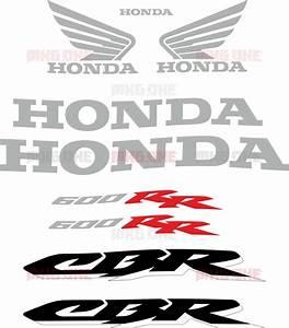 Honda Cbr-600-rr 2003-2004 Txt Stickers Set