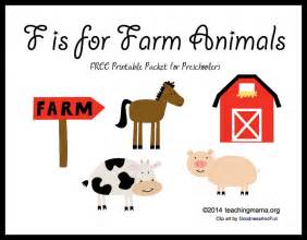Farm Animal Letter F Worksheet