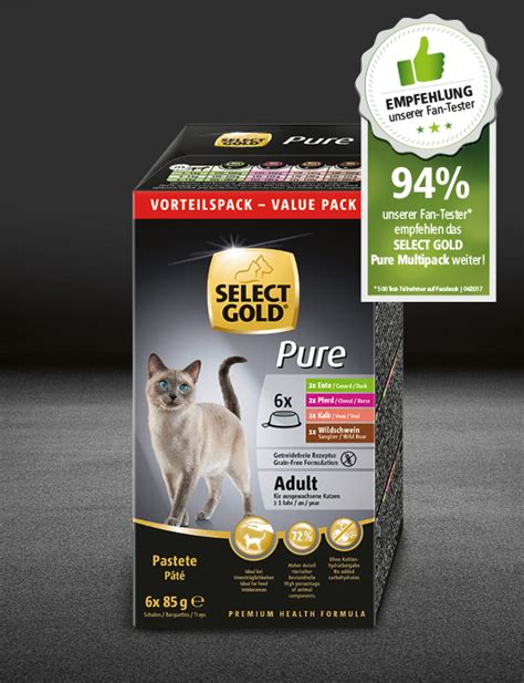 select gold pure adult multipack schale select gold