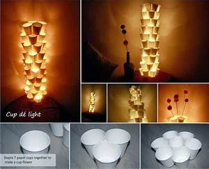 Awesome Diy And Craft: 12 Recycle Paper Cups Tower Lamps