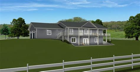 HOUSE PLAN 2014822 BUNGALOW WITH WALKOUT & 2 CAR SIDE