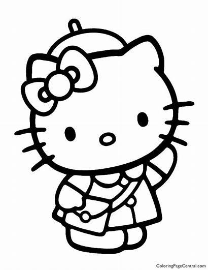 Kitty Hello Coloring Pages Tanaka Sanrio Llo