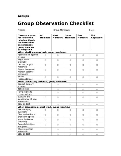 preschool behavior checklist best photos of preschool observation checklist form 309