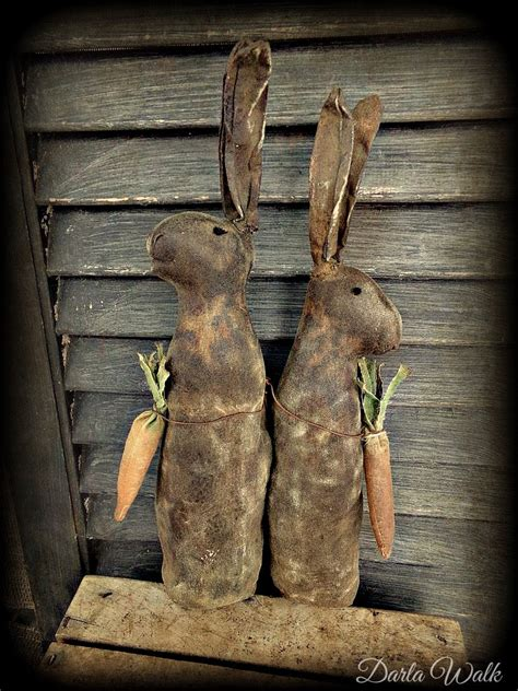 Primitive Rabbit Doll Spring Decor Easter