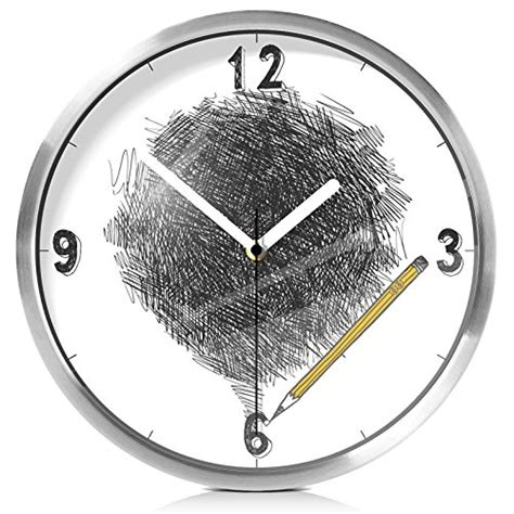 fortunevin wall clock silent movement wall clock home office decor for living room