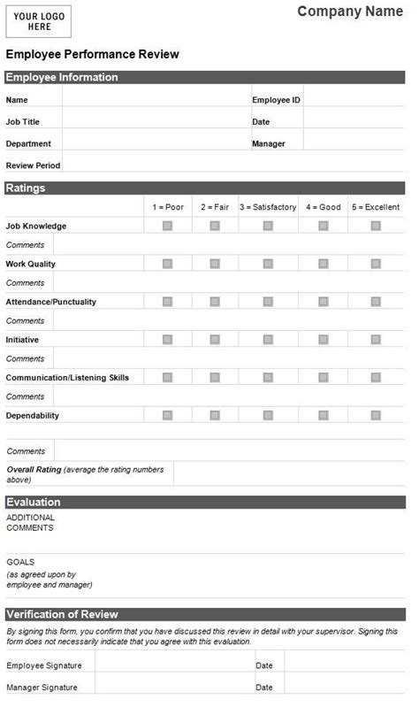 by itz my human resource management evaluation employee employee evaluation form
