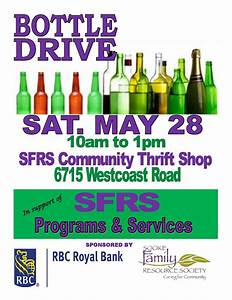 31 Fundraiser Flyer Fyi Sfrs Hosts Bottle Drive To Support Programs And