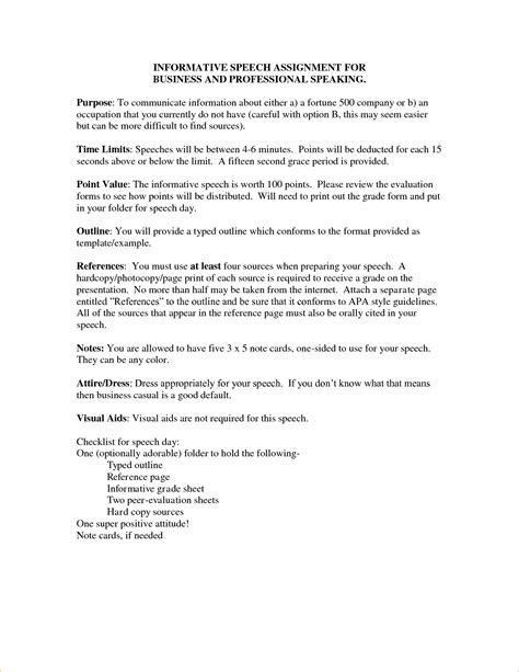Speech Outline Template Pages