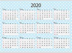 水玉の2018年カレンダーの無料イラスト素材 iiイラストイメージ