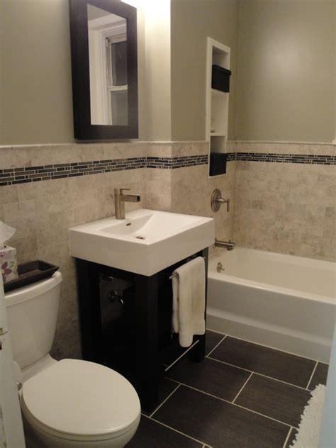 marble subway tile bathroom contemporary bathroom