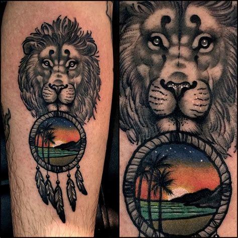 lion beach dream catcher tattoo  tattoo ideas gallery