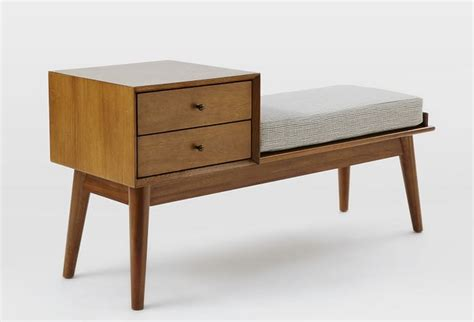 furniture finds mid century storage bench from west elm