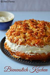 Bienenstich Kuchen German Bee Sting Cake Eggless