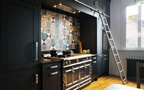 cuisine industrielle inox best cuisine noir bois inox ideas design trends 2017