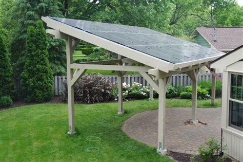 Remodeling Kitchen Ideas - solar pergola chaign new prairie construction