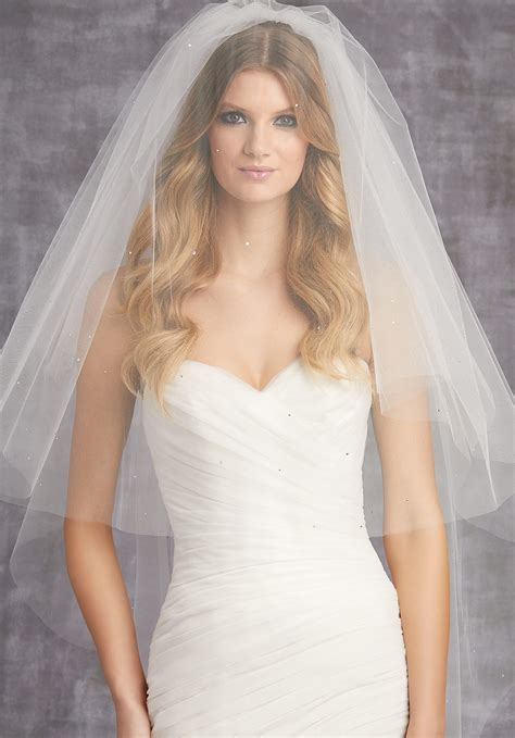 Circular Veil With Scattered Rhinestones Style Vl1001