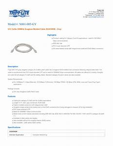 Gray Snagless Cat5e Molded Patch Cable N001