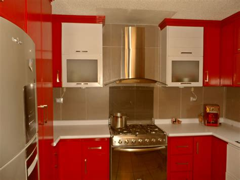 red rigid plastic cabinets