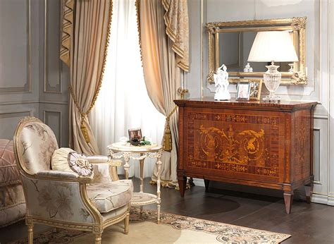 Classic Maggiolini Bedroom, Chest Of Drawers, Wall Mirror