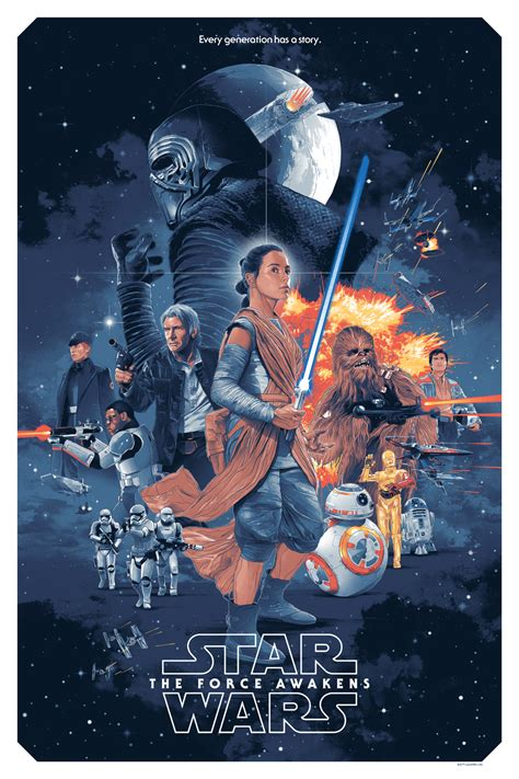 Star Wars The Force Awakens Poster By Gabz Collider