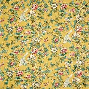 Caverley Fabric - Chinese Yellow (DCAVCA202) - Sanderson ...