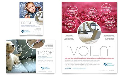 carpet cleaning flyer ad template word publisher