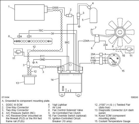 Kenworth Ac Wiring by Kenworth Air Conditioner Diagram Sante