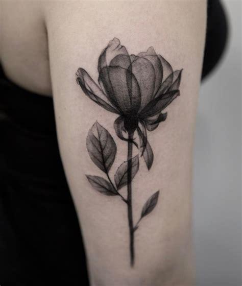 black  gray flower tattoo inkstylemag