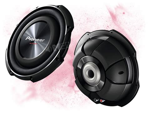 flach subwoofer auto pioneer ts sw2502s4 25cm 250mm auto flach subwoofer