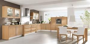 Cuisine equipee bois clair le bois chez vous for Idee deco cuisine avec meuble salle a manger chene blanchi
