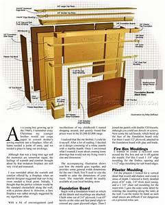 Faux Fireplace Mantle Plans • WoodArchivist