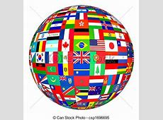 Stock Illustrations of World Flags Globe flags of the
