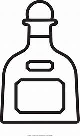 Bottle Tequila Clipart Coloring Liquor Transparent Pinclipart sketch template