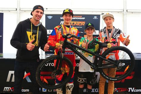 junior motocross junior chions rewarded with scott voltage yz0 3 bikes