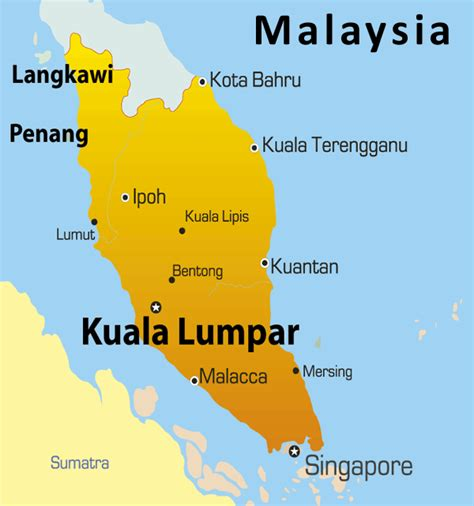 kuala lumpur map showing attractions accommodation