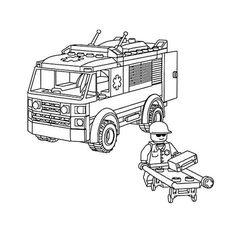 Kleurplaat Ambulance by Leuk Voor Ambulance Met Ziekenverzorger