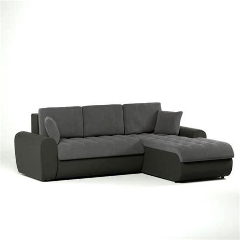 canapé d angle gris et noir cloe canapé convertible lit angle droit 4 places gris noir