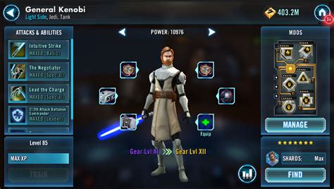 los  mejores personajes de star wars galaxy  heroes
