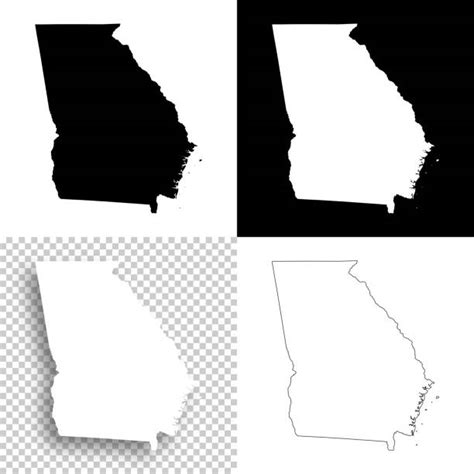 state  georgia outline illustrations royalty