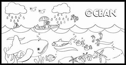 Coloring Ocean Pages Waves Printable Sheets Wave
