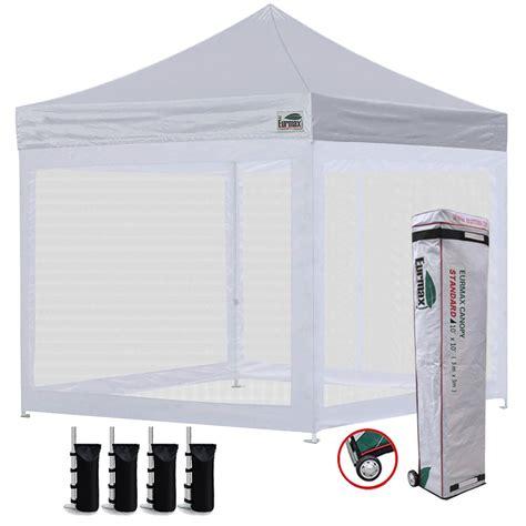 eurmax  ez pop  canopy screen houses shelter commercial tent  mesh walls  roller